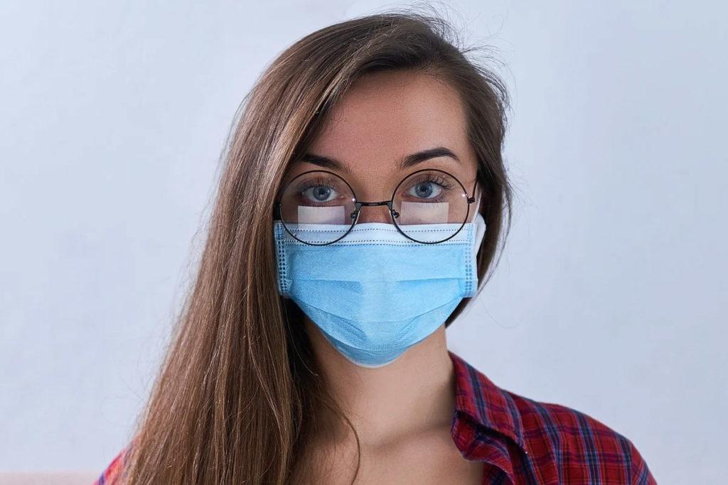 Masque coronavirus lunettes