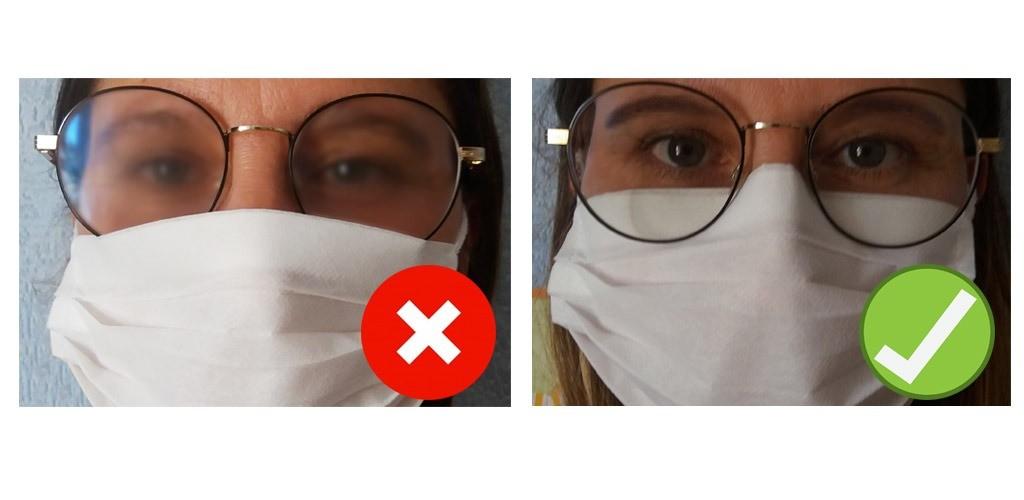 buée sur les lunettes port des lunettes