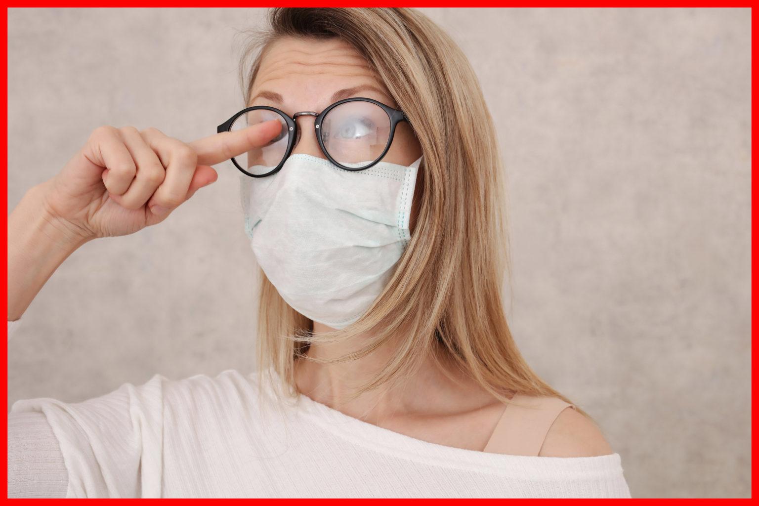 lunettes anti buée avec masque de protection anti covid 19